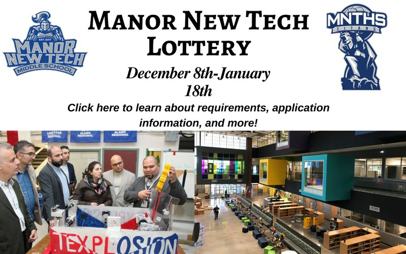 Manor New Tech Lottery Application Window Open Dec. 8-Jan. 18 Thumbnail Image