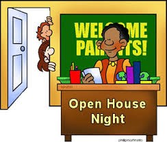Open House is Thursday September 7tth from 5:30 till 7:00 PM