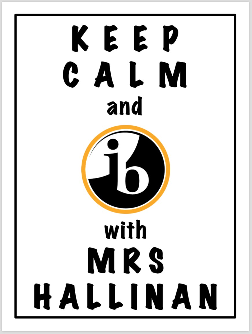 Image of Stay Calm and IB with Mrs Hallinan gift