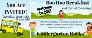 Boo Hoo Breakfast and Parent training 8/15 7:30 AM