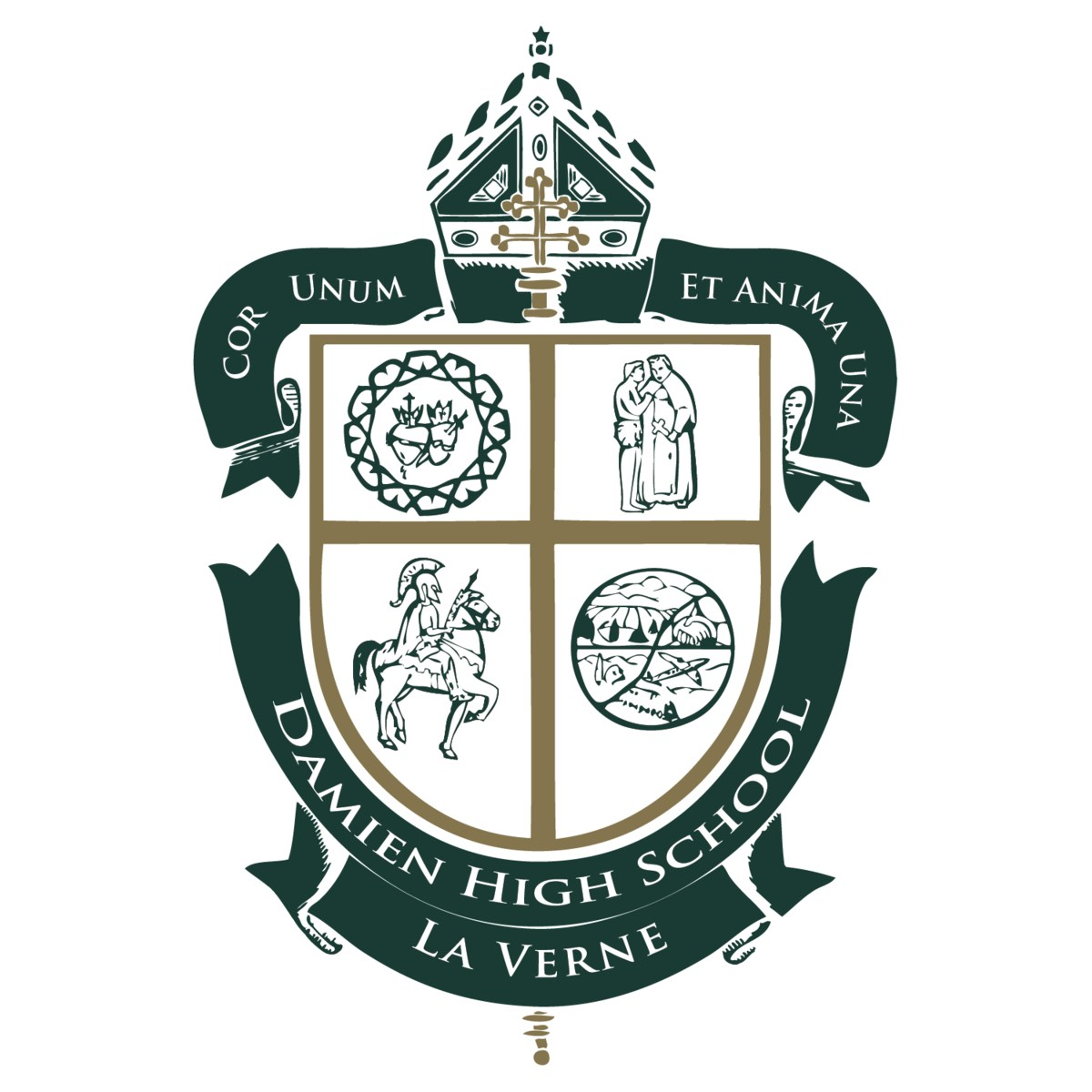 Damien High School Crest Logo