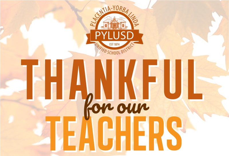 Give thanks to PYLUSD teachers Thumbnail Image
