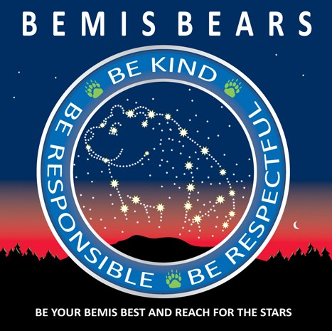 Bemis Bears, be kind, be responsible, be respectful
