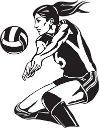 volleyball girl clip art