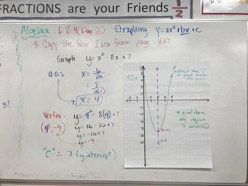 Algebra Lesson 8.4 Day 2