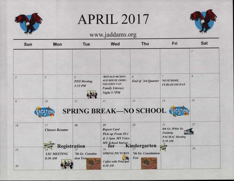 APRIL CALENDAR 2017 Thumbnail Image