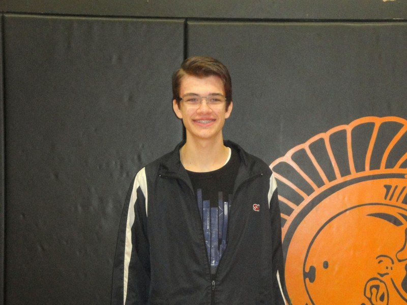 TKHS senior Aaron Czarnecki is honored as the December Rotary student of the month.