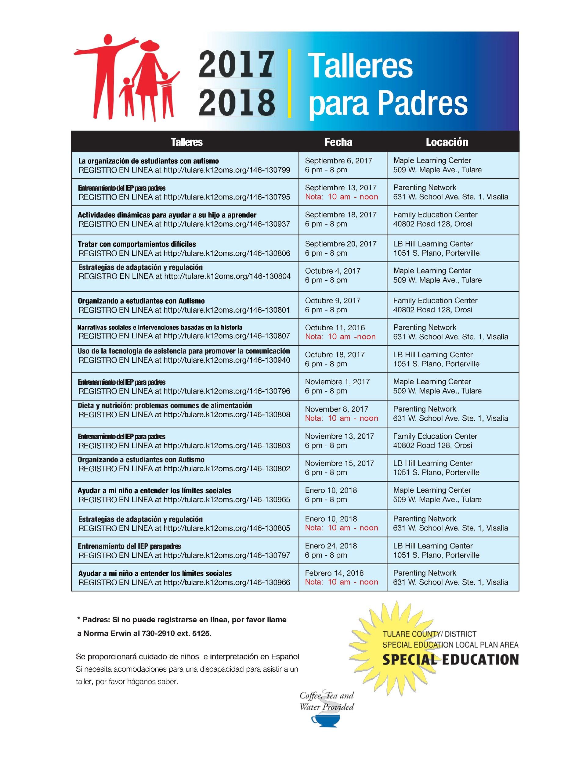 Special Education Parent Workshop - Spanish