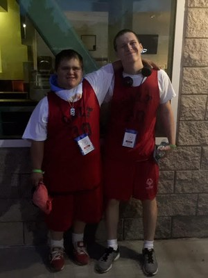 Our Galt athletes after the opening ceremonies for the Northern CA Special Olympics Summer Games