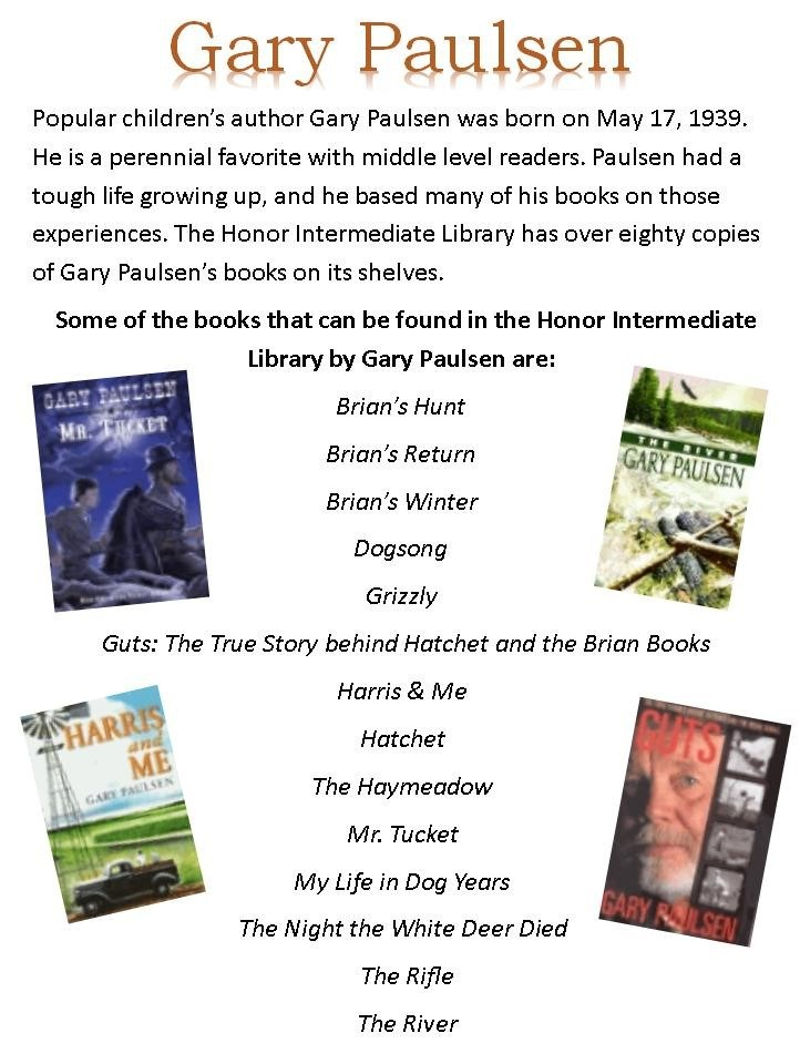 Gary Paulsen auther of the month