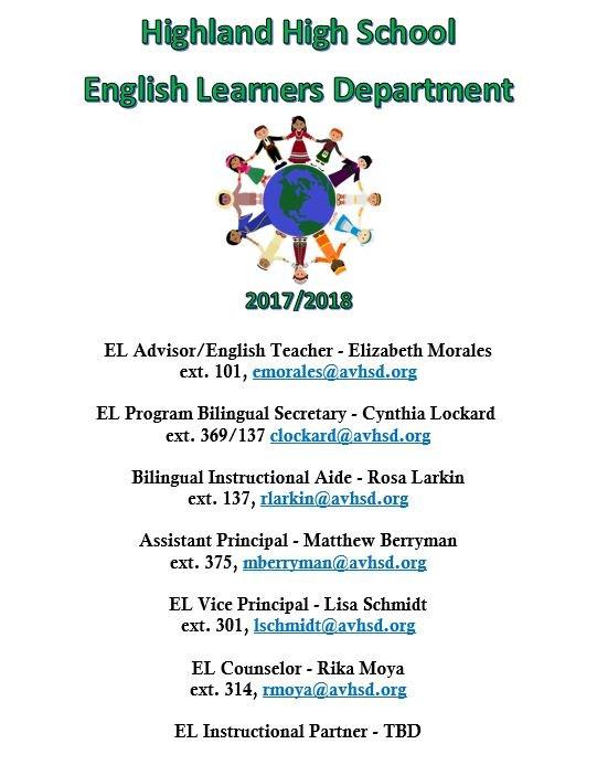 EL Contact Info
