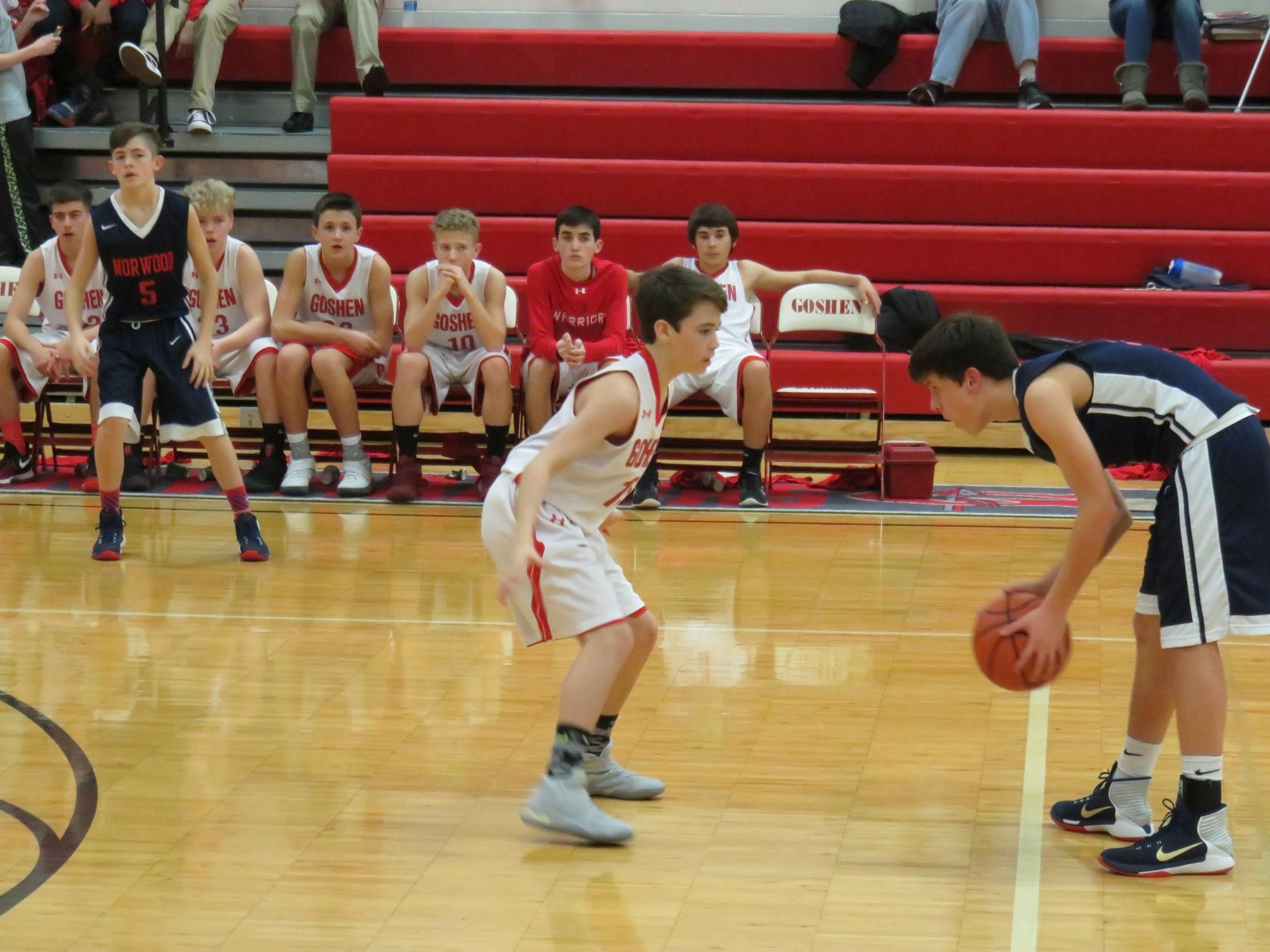 8th grade boys basketball players Joe Alvarado