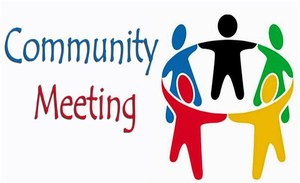 Community Meeting Written on Picture with People