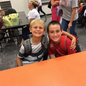 two friends first day of school
