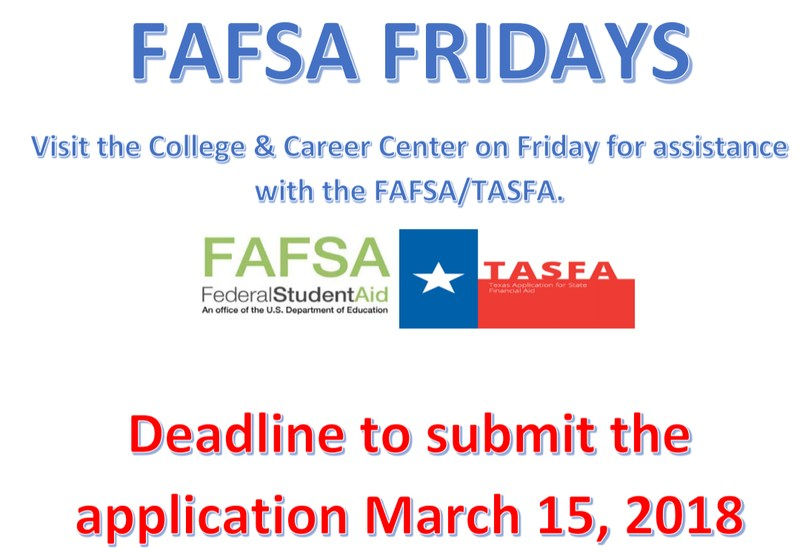 FAFSA Friday flyer