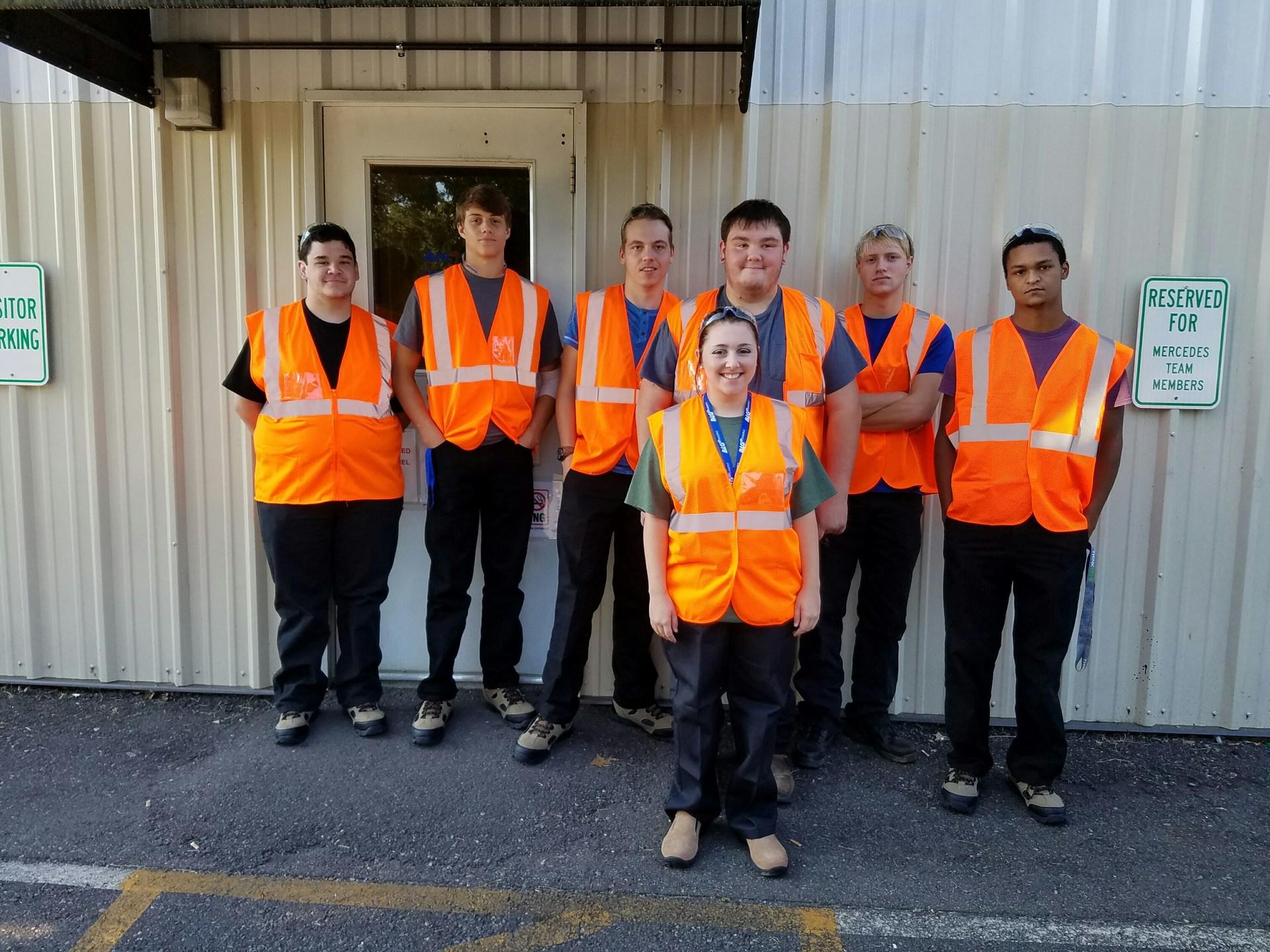BLG interns on the job.