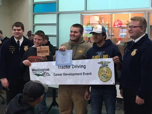 FFA Tractor Driving event winners