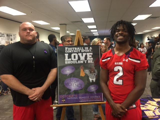 MHS Participates in Travis Co. Sheriff's Domestic Violence Awareness Campaign Thumbnail Image