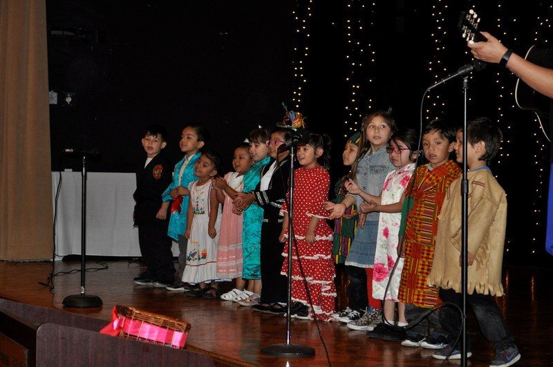Preschool children perform a montage of songs during the Baldwin Park Unified Early Childhood Education program's 17th annual Family and Community Partnership Recognition Luncheon, held April 27.
