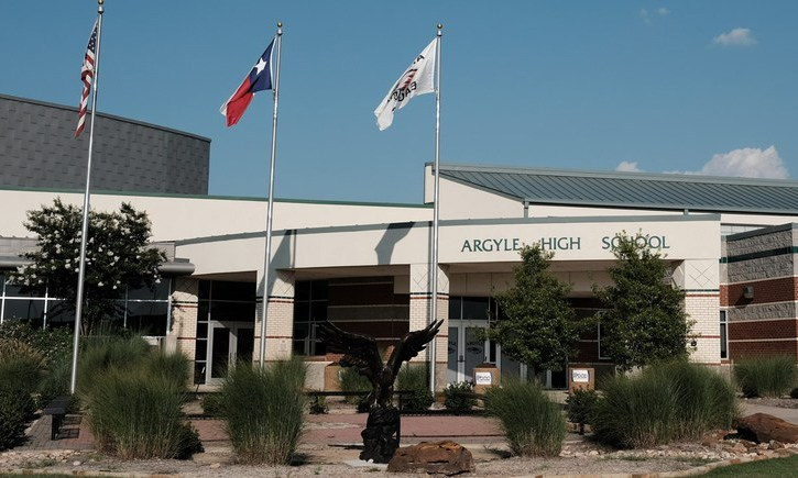Argyle High School, Front of Building