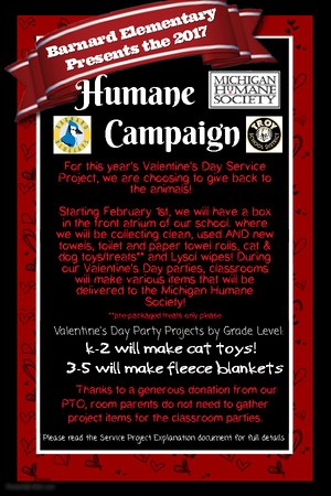 Humane Society Announcement