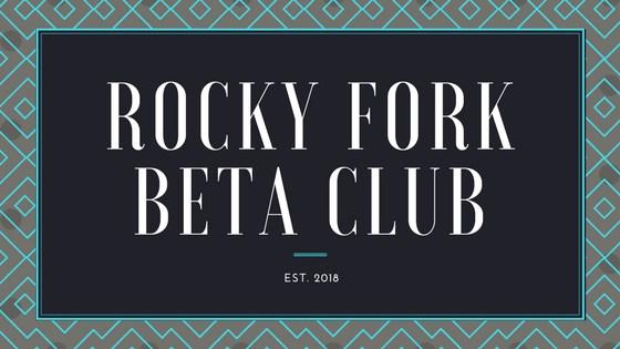 Rocky Fork Beta Club Est. 2018