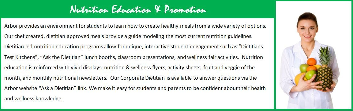 Nutrition Education and Promotion