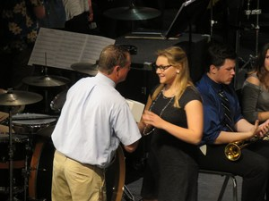 Earning the John Philip Sousa Award from symphonic band was Hannah Barton.