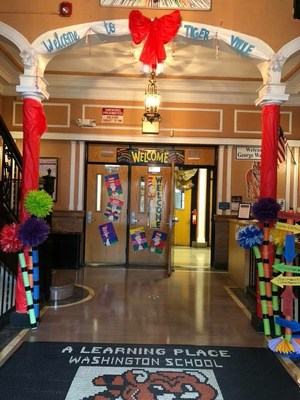 GWS Entry Way celebrating Dr. Seuss Birthday