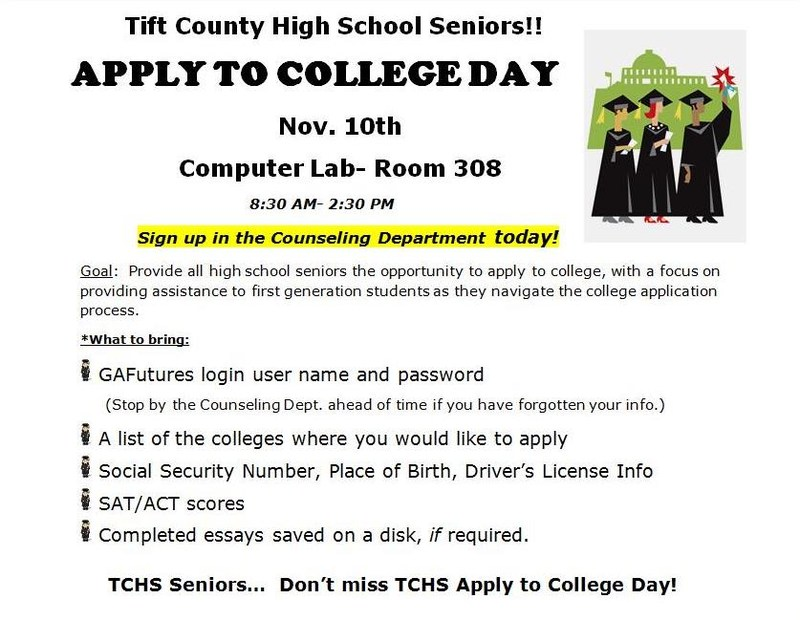 TCHS Annual Apply to College Day Featured Photo
