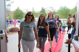 Juniper School Staff walking the red carpet