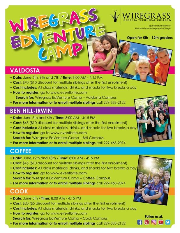 Wiregrass EdVenture Camp Flyer
