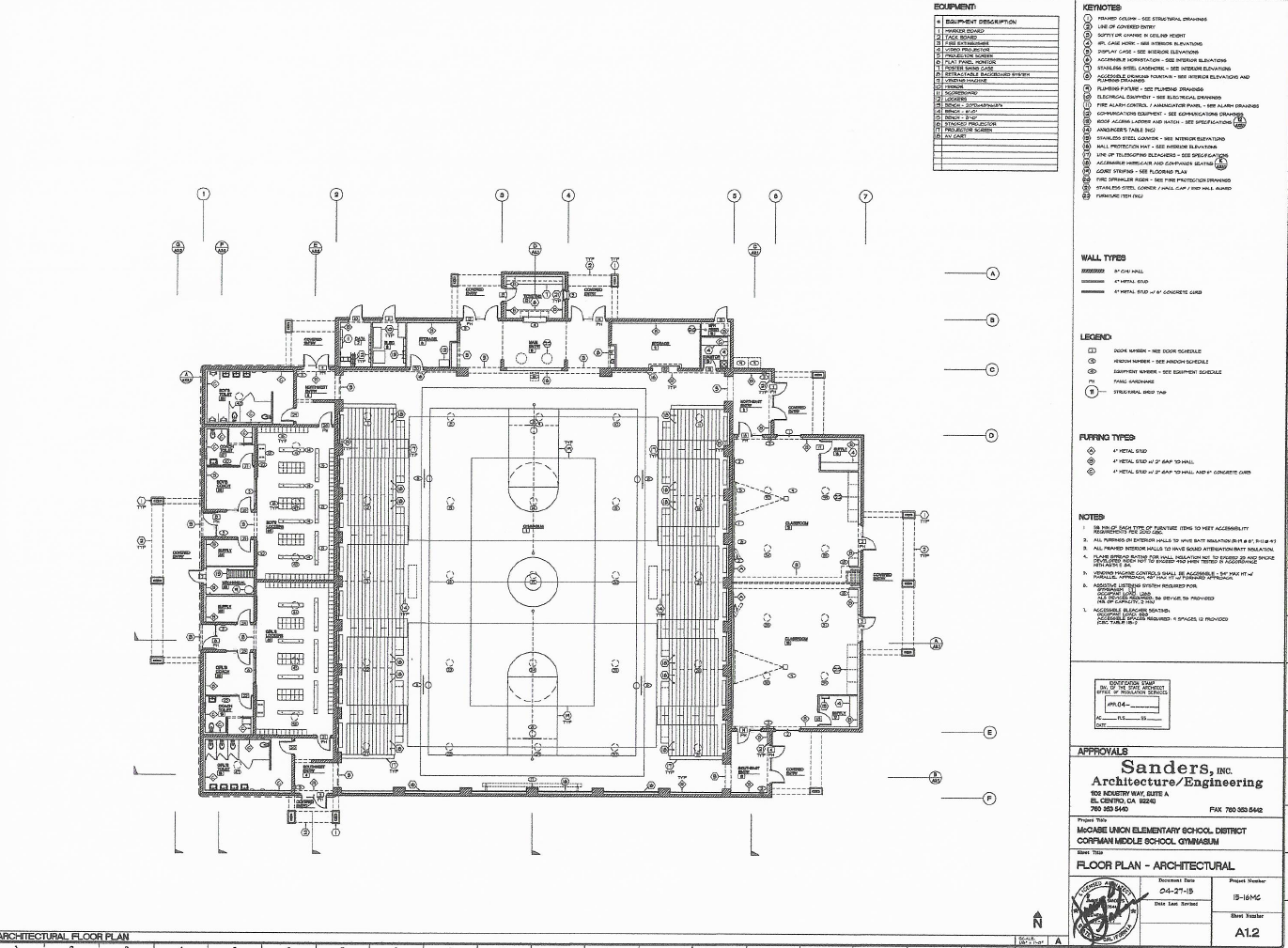 Gymnasium floor plan measure g mccabe union for Gym floor plan
