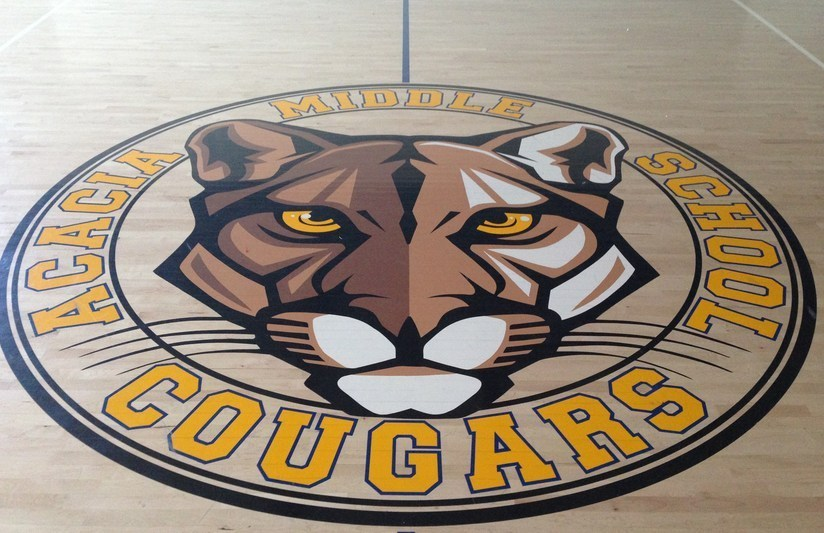 Cougar Logo - Gym Floor