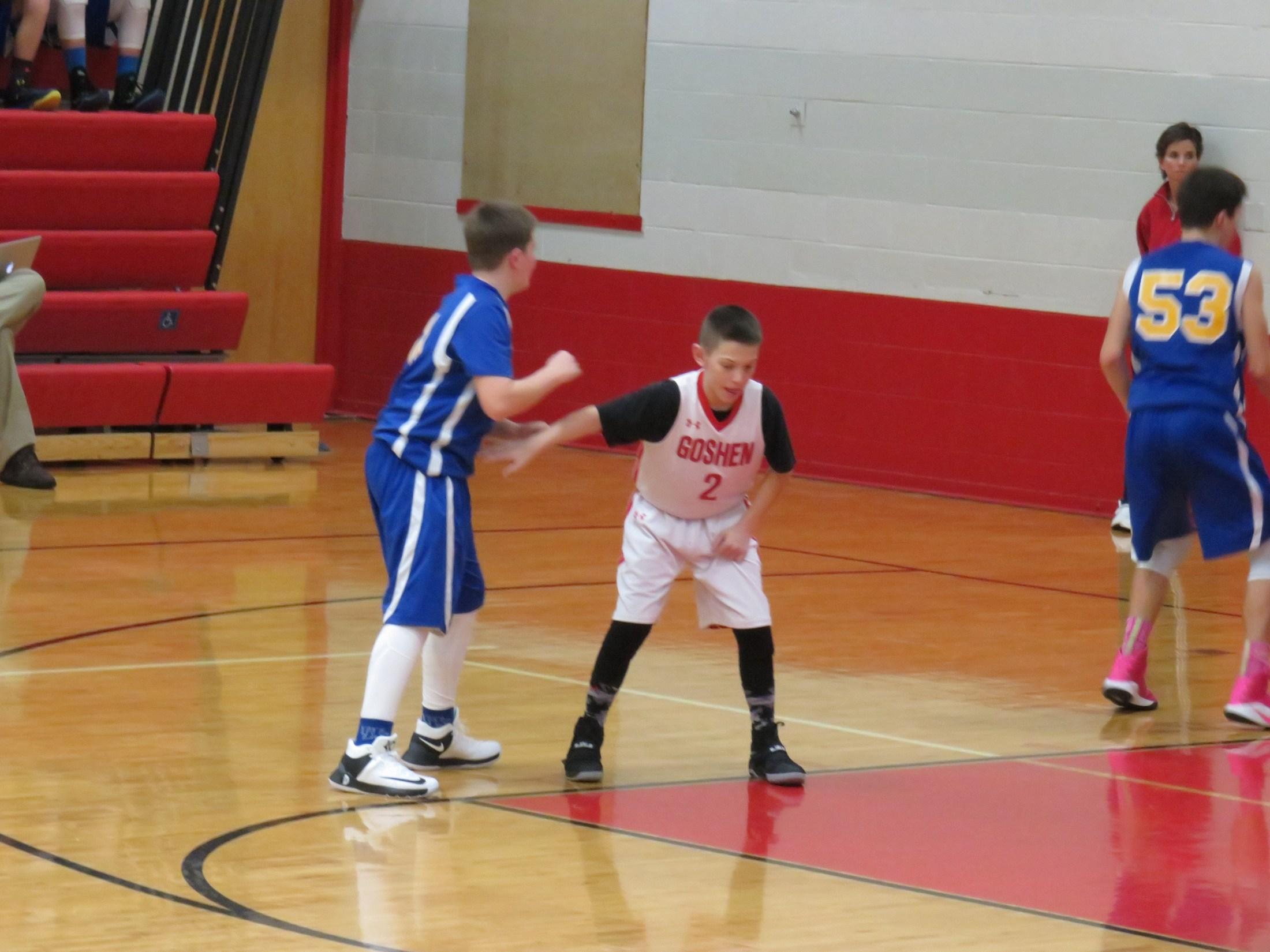 7th grade boys basketball player Steven Beckstedt