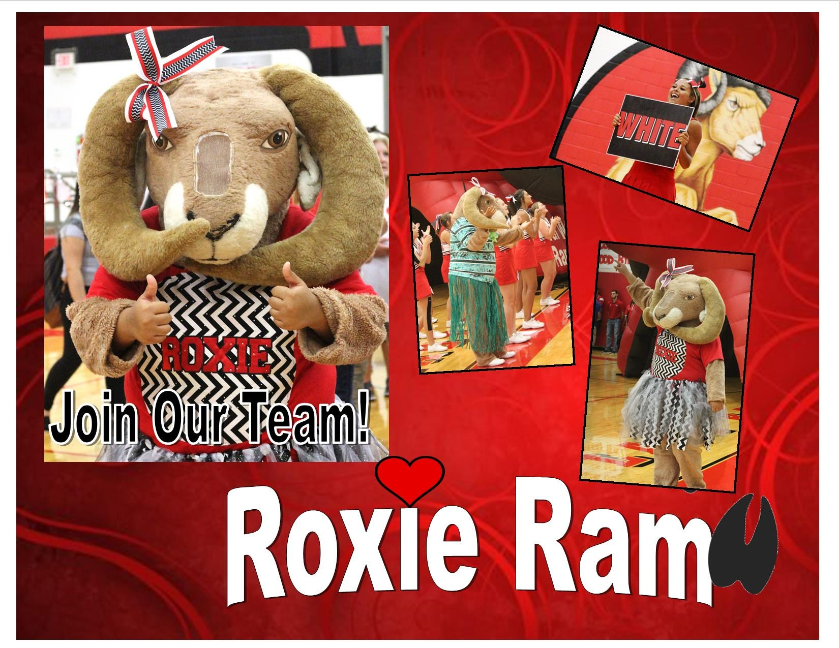 Pictures of Mascot Roxie the Ram