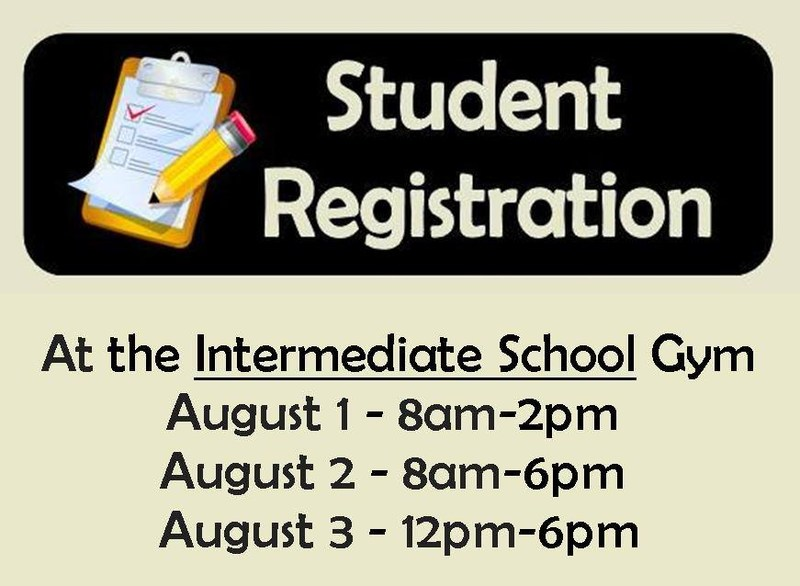 School Registration for ALL students NEXT WEEK - August 1st, 2nd & 3rd!! Thumbnail Image