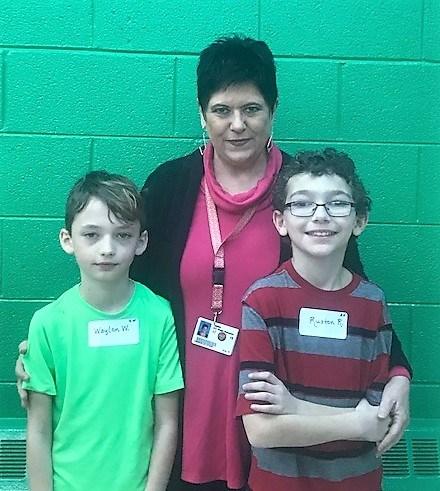 Principal and students