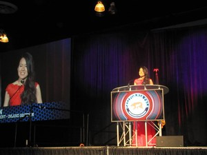 Karen Sun - State Vice President, Inland Section President. (talking to over 2500 people at the Ontario Convention Center).jpg