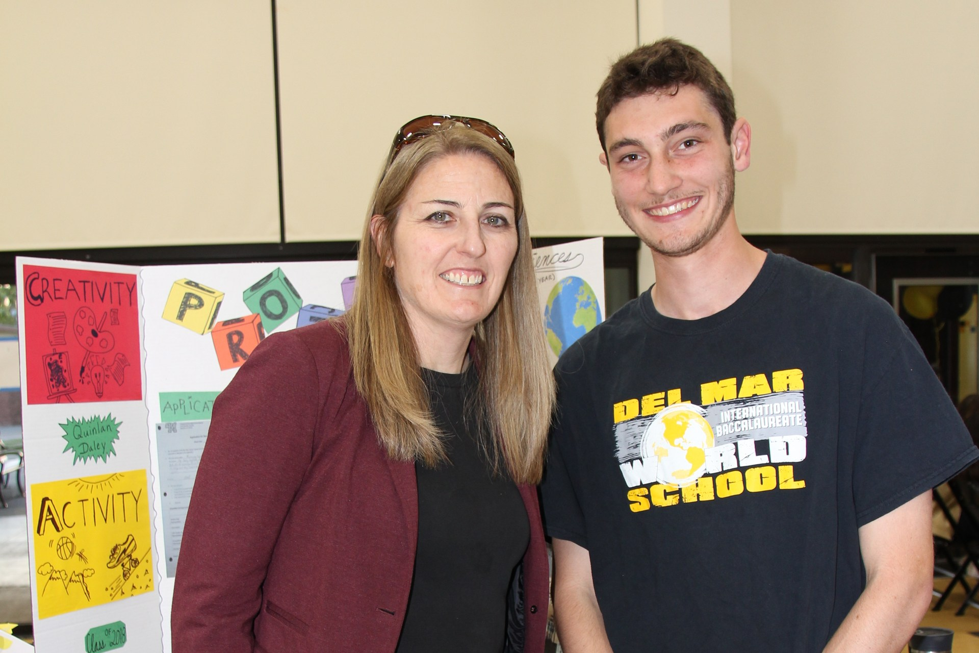 Image of IB Diploma Candidate with Principal Baldwin at CAS Celebration Event