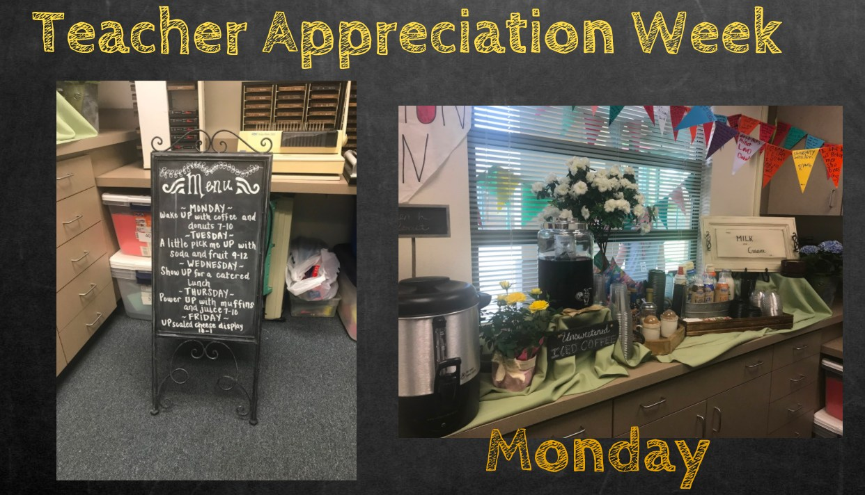 Teacher Appreciation Schedule