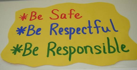 Sign - Be Safe, Be Respectful, Be Responsible