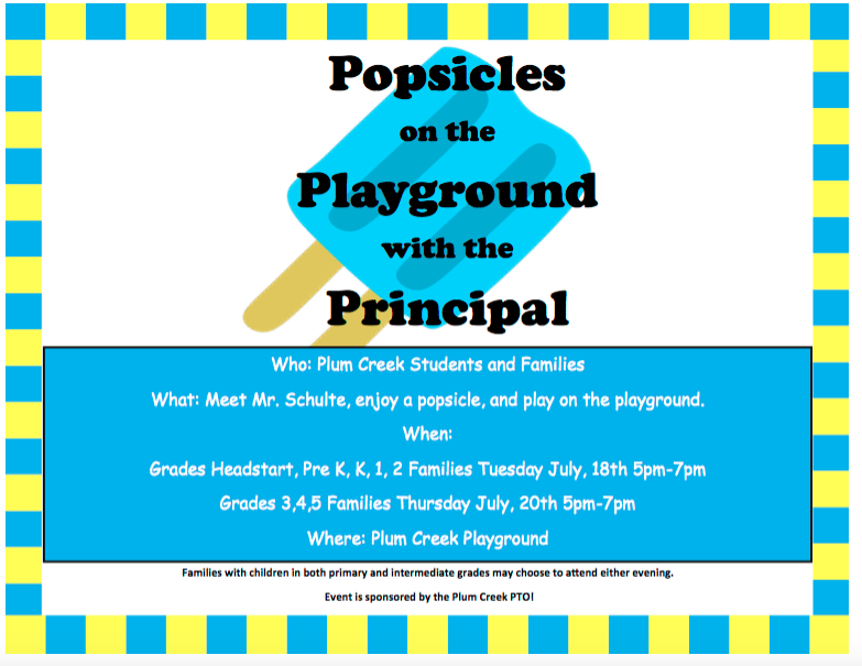 Popsicles With The Principal! Thumbnail Image