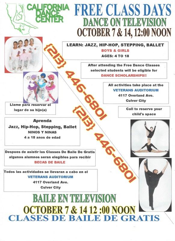 California Dance Center - Free Classes Thumbnail Image