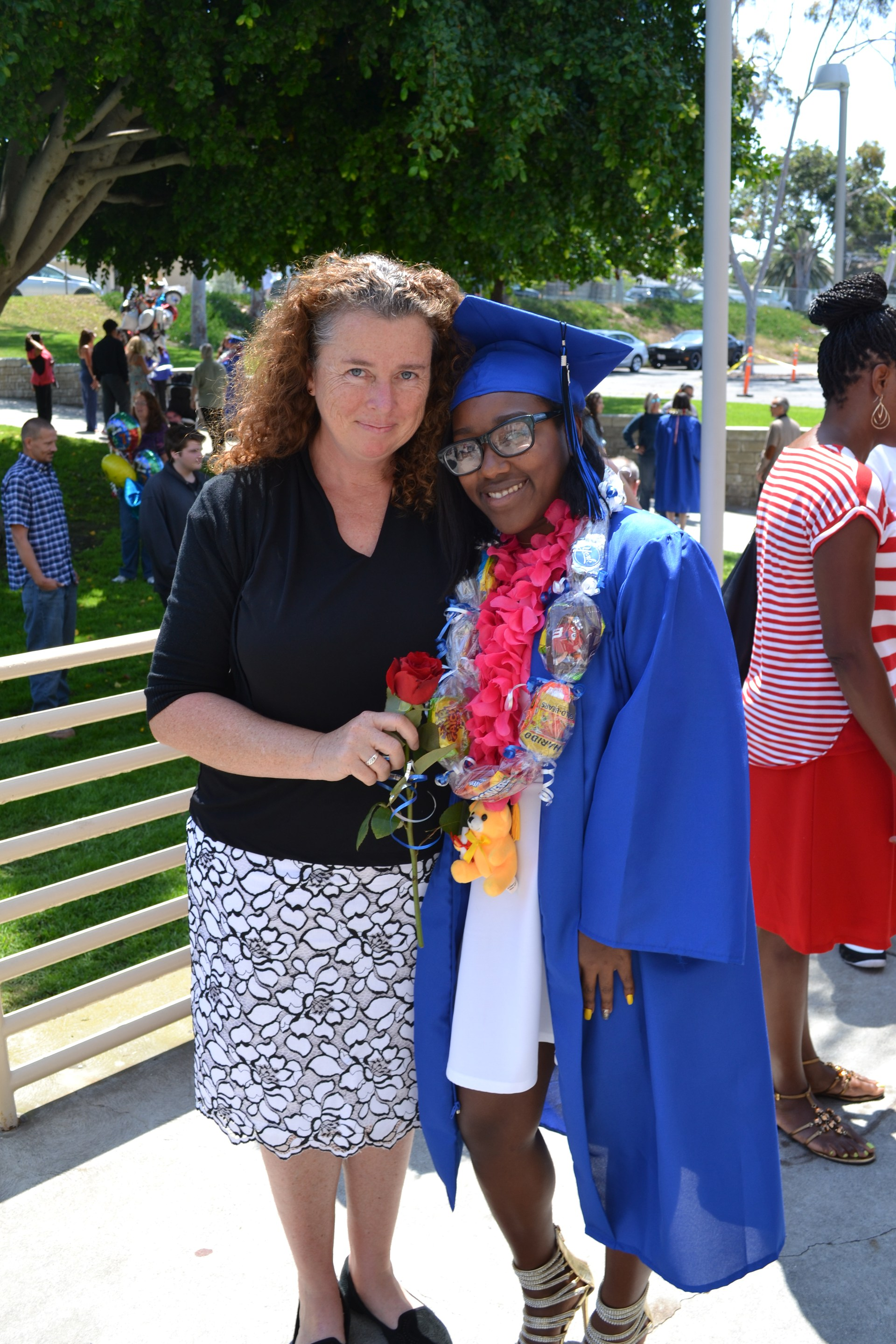 Allison Parsons at Graduation with student