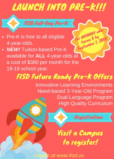 Flyer with pre-k information