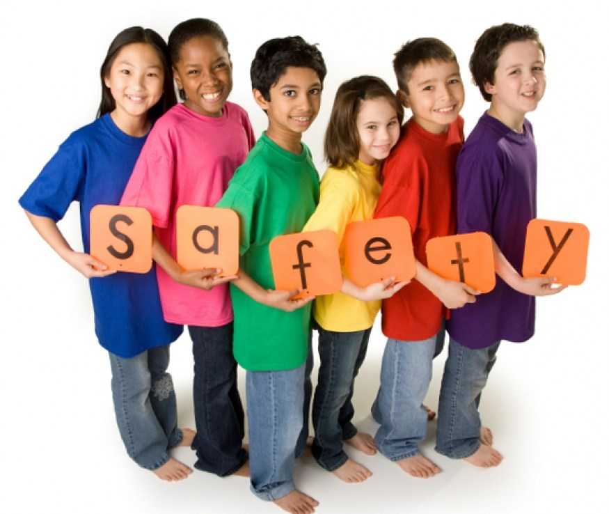 children with safety sign