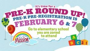 Pre-K Round Up graphic logo