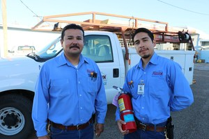 Pictured are Juan Galaviz and Joe Price from the Maintenance Department.