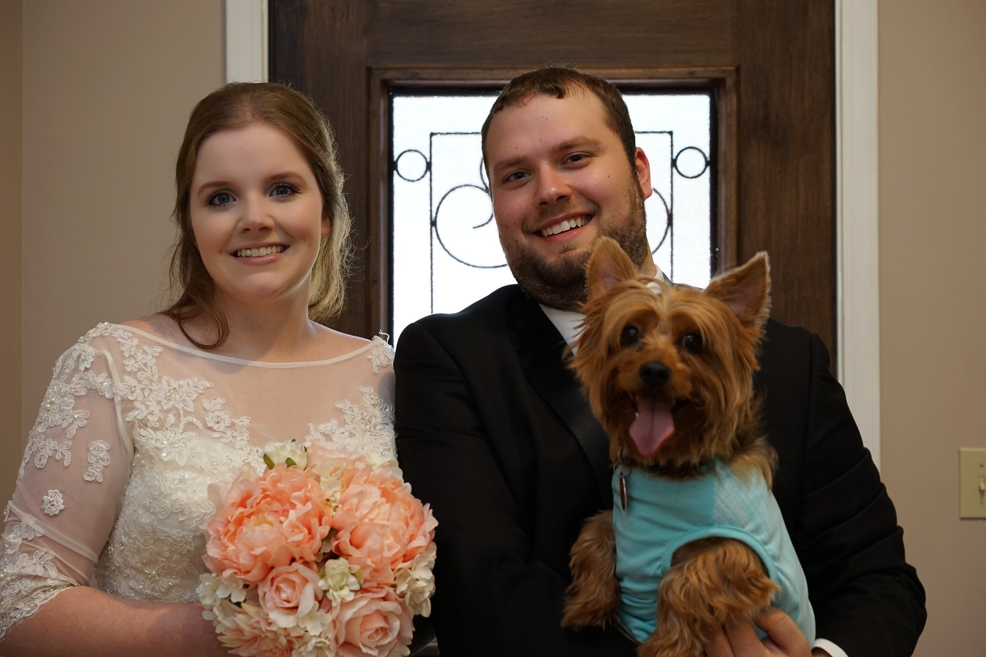 Me, my husband, and Daisy